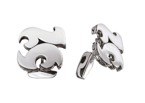 Dayak Silver 'Cut Out' Cuff Links