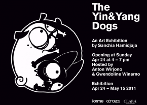the yin and yang dogs exhibition by sanchia hamidjaja