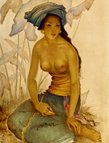 balinese woman by lee man fong