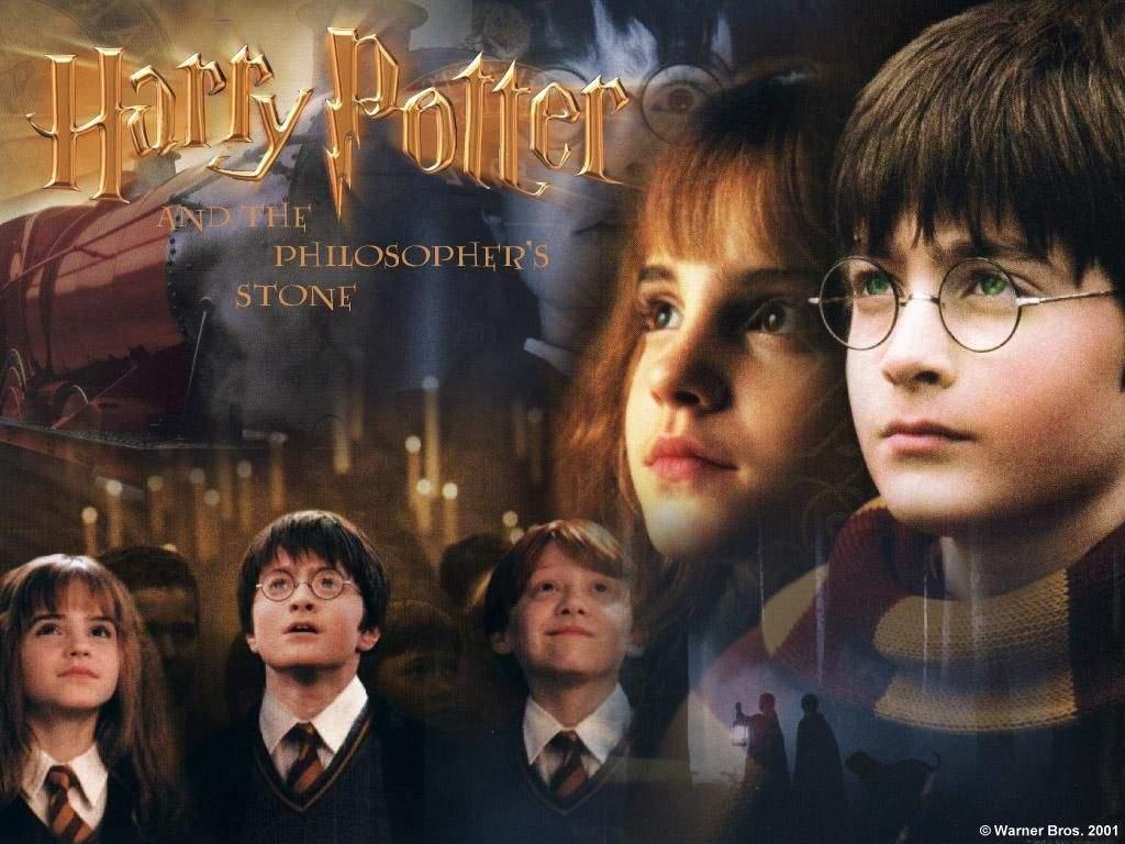 Daniel Radcliffe, Tom Felton, Rupert Grint, Emma Watson very young