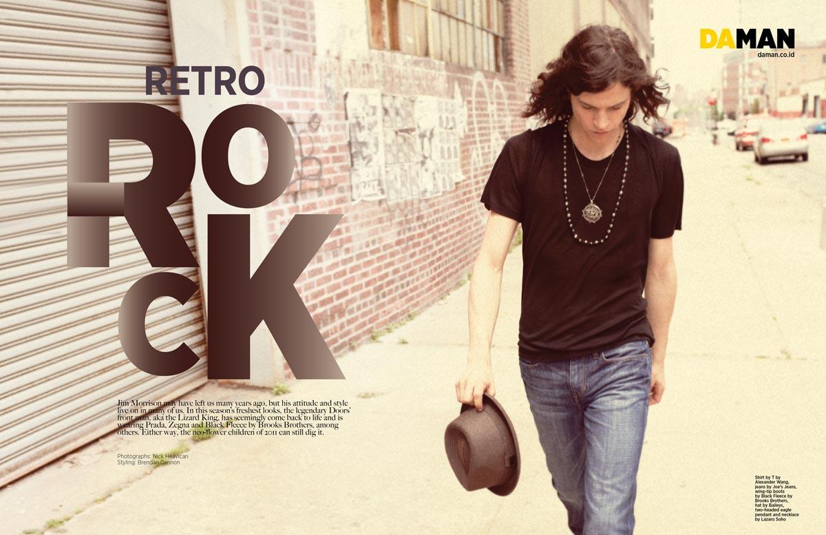 jim morrison revisited retro rock fashion da man magazine. Black Bedroom Furniture Sets. Home Design Ideas