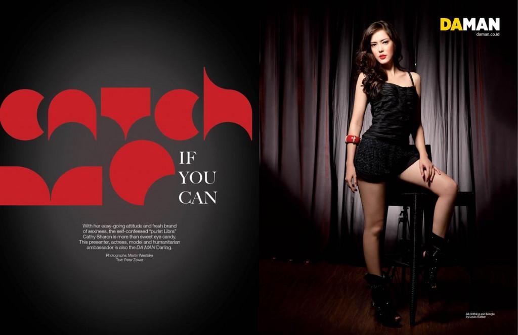 cathy-sharon for DA MAN full fashion feature spread 1