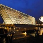 Louis Vuitton Island Maison at Marina Bay Sands, night exterior