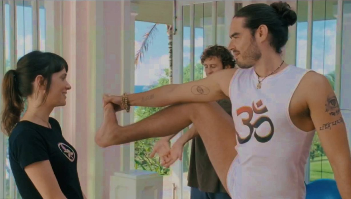 Russell Brand Men's Yoga 'Forgetting Sarah Marshall' movie - DA MAn Yoga column