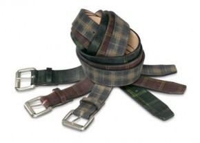 kenzo homme fall winter 2011 tartan belts