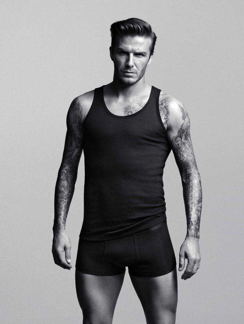 david beckham bodywear for H&M on DA MAN