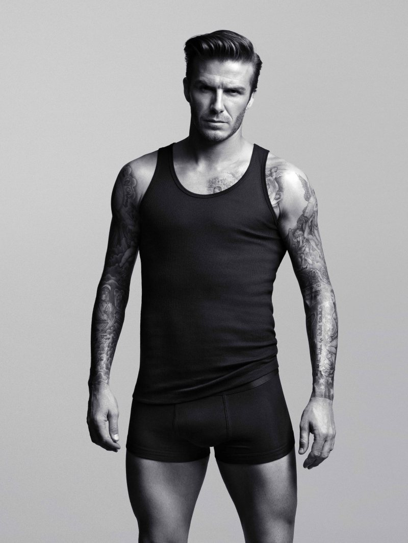 david beckham bodywear for H&M on DA MAN