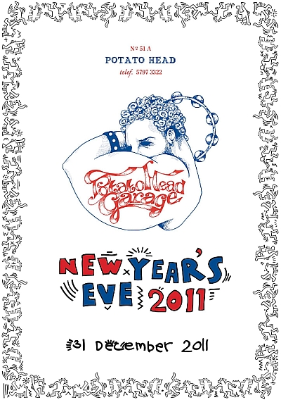 Potato Head Jakarta, NYE party flyer, DA MAN