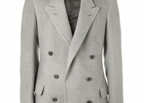 lanvin magnetic closure double breasted jacket