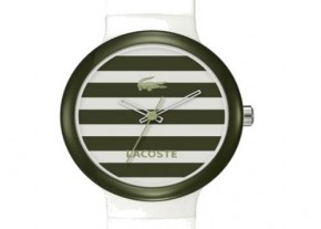 Lacoste Watch Goa Stripes-- DA MAN olive green