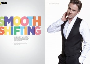 Shirt, vest and pants by Emporio Armani