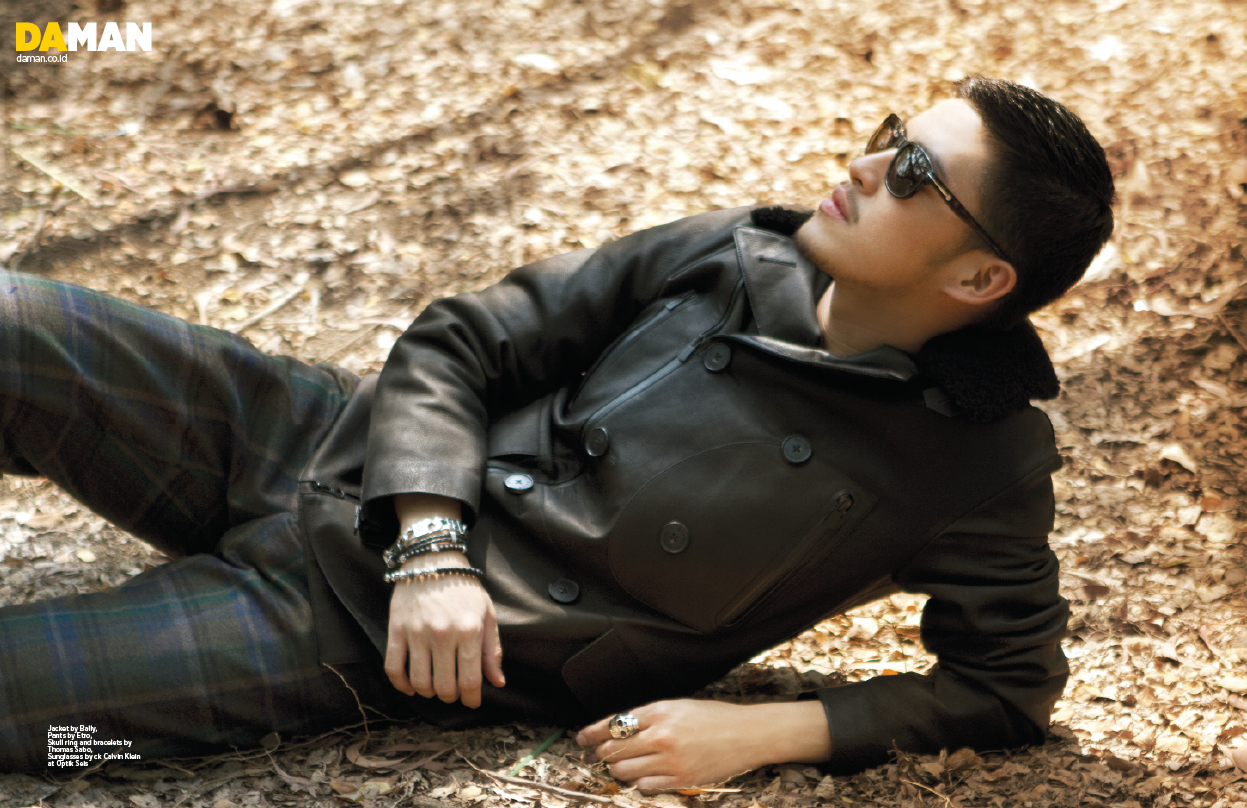 Jacket By Bally, Pants By Etro, Skull Ring And Bracelets By Thomas Sabo,  Sunglasses By Ck Calvin Klein At Optik Seis