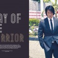 Suit, Shirt, and Tie by Prada, belt by Michael Kors