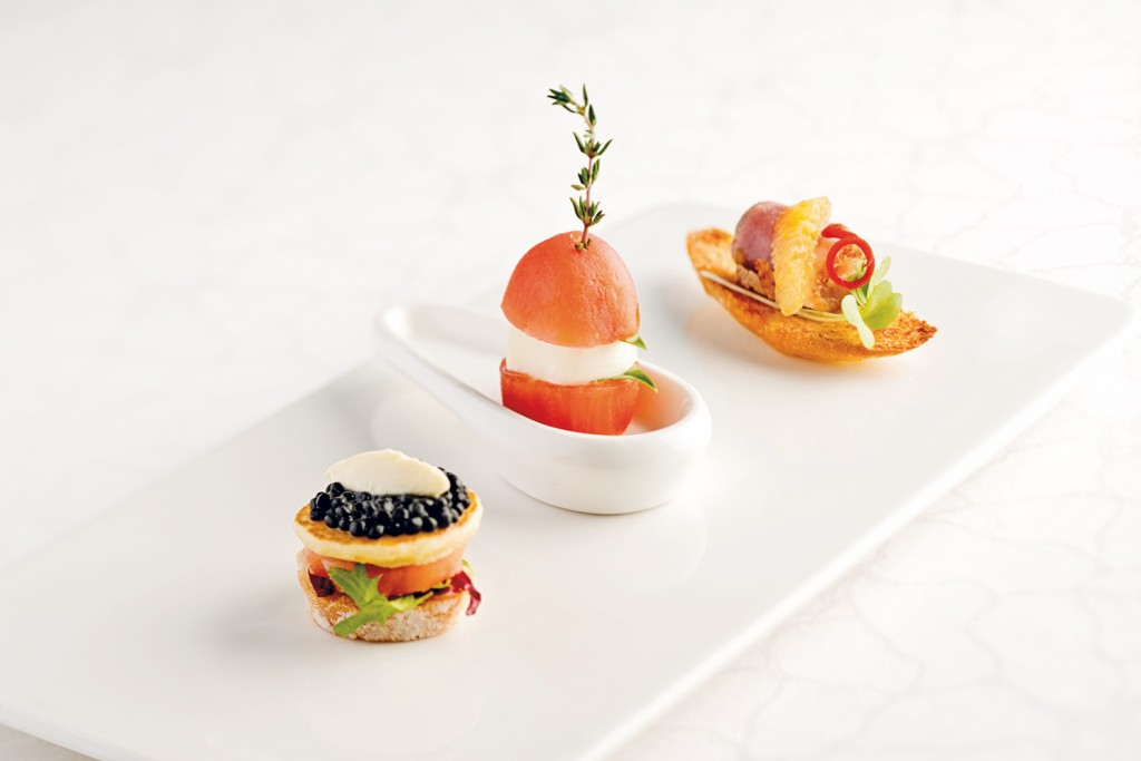 Cuisine fine dining at home da man magazine for French canape ideas