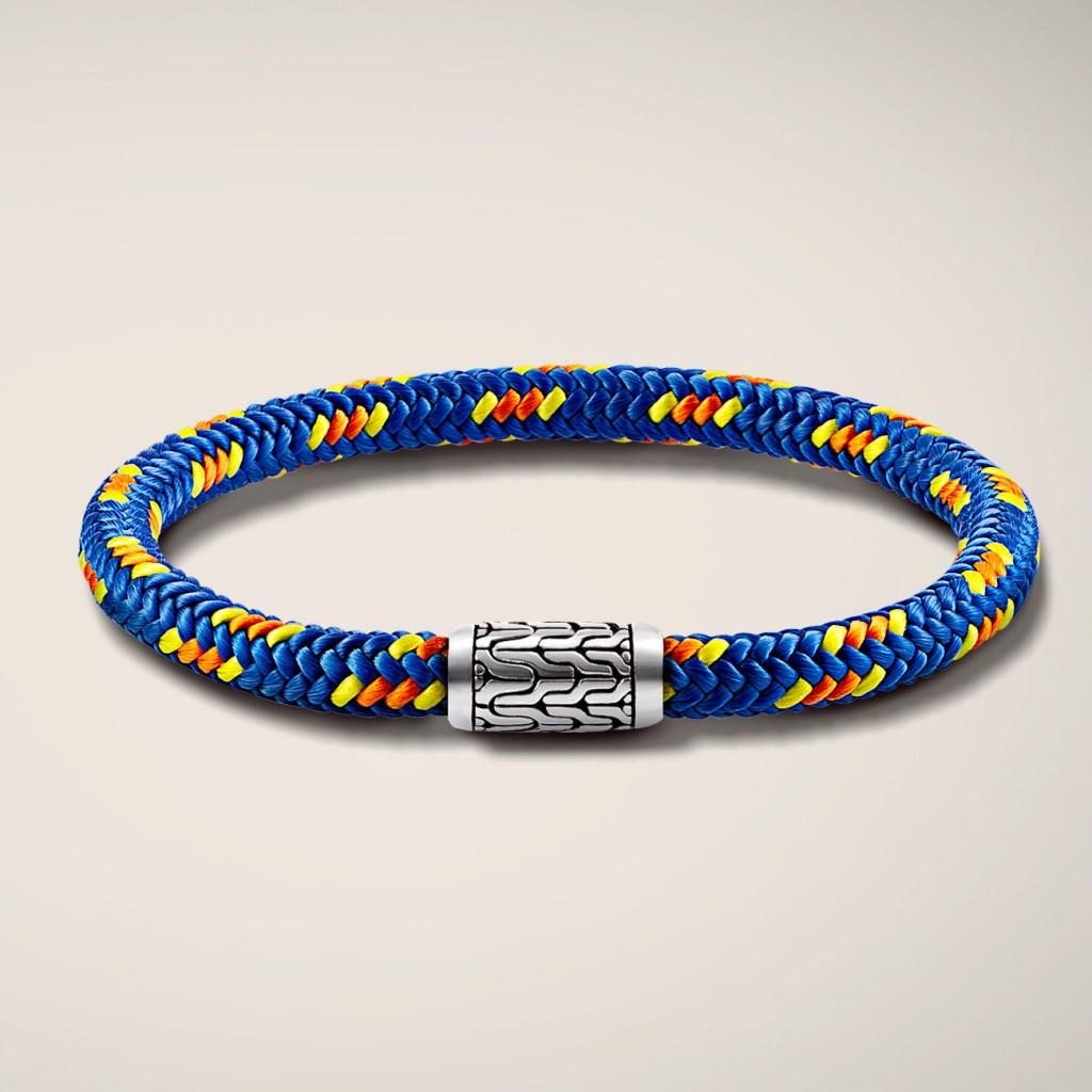 John Hardy station bracelet on multicolor sailing chord