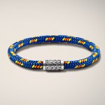 John Hardy station bracelet on multicolor sailing chord