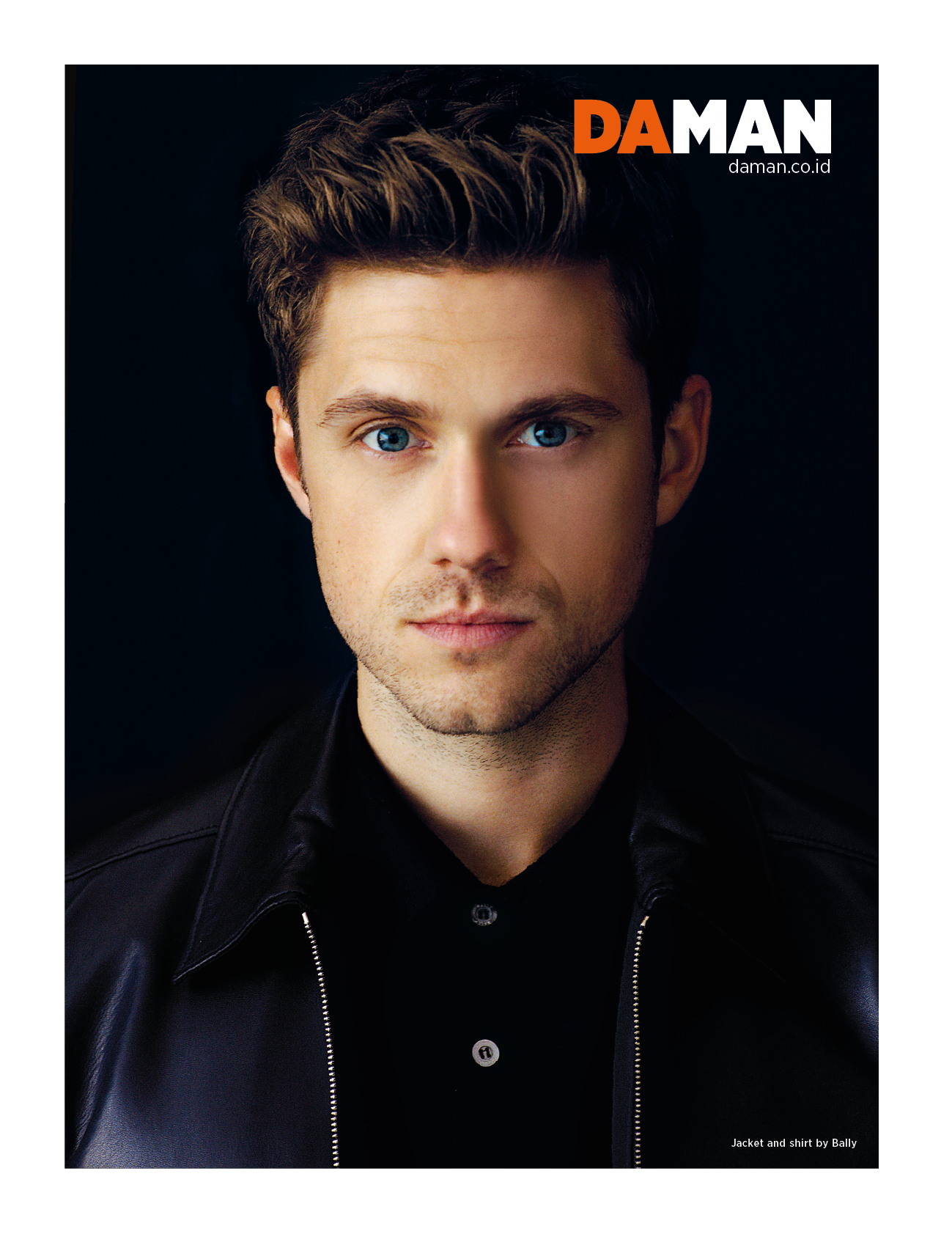 Aaron Tveit Jacket and shirt by Bally