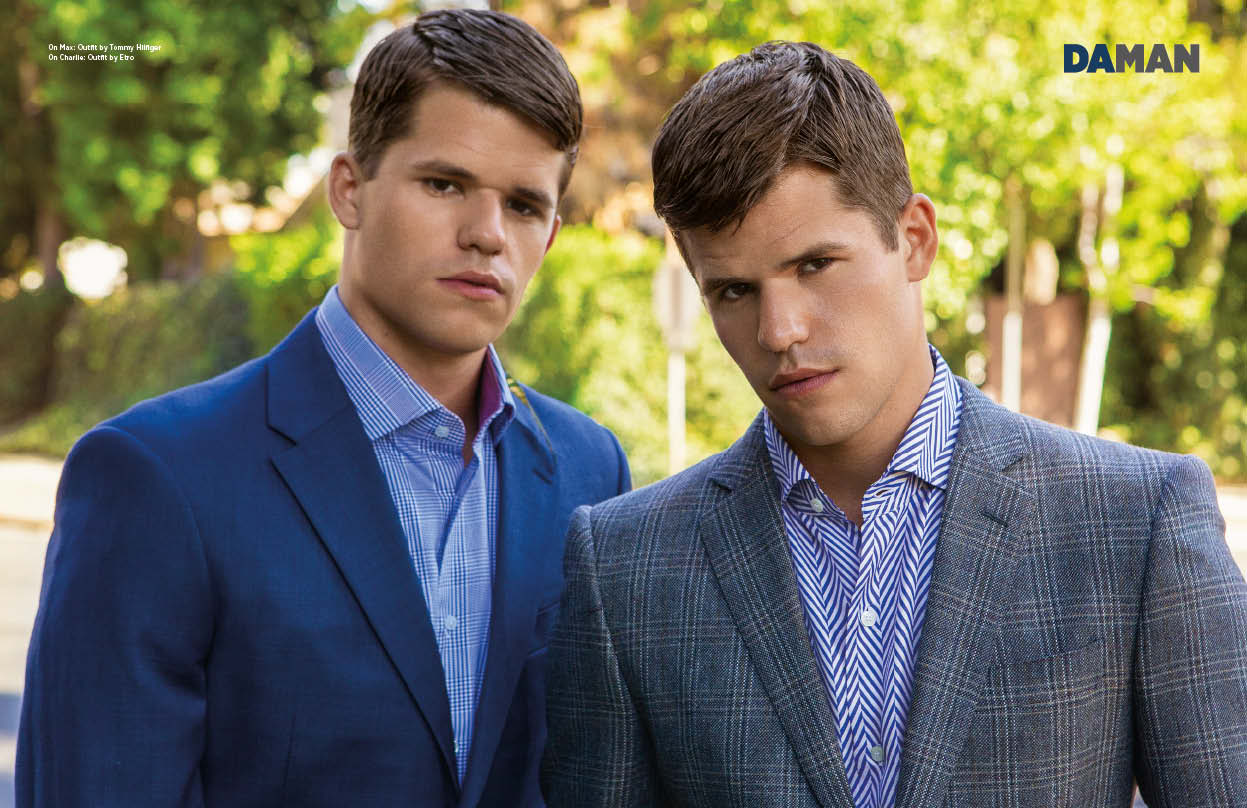 Exclusive Feature Max And Charlie Carver | DA MAN Magazine