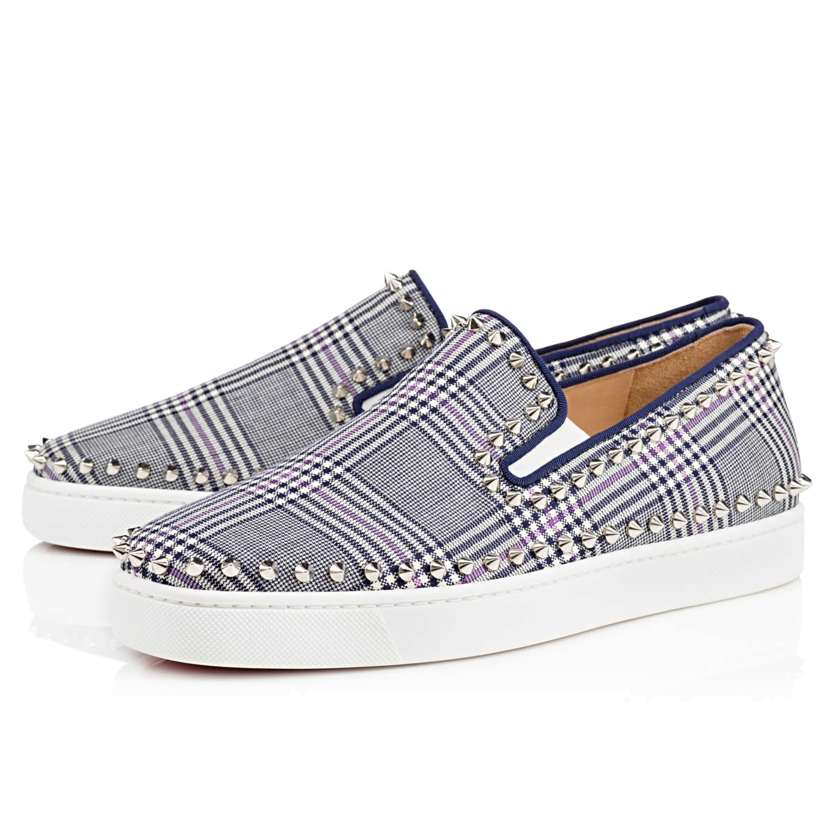 Christian Loubutin Tartan Shoes Pik Boat