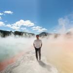 Joe Taslim at Wai-o-tapu geothermal park