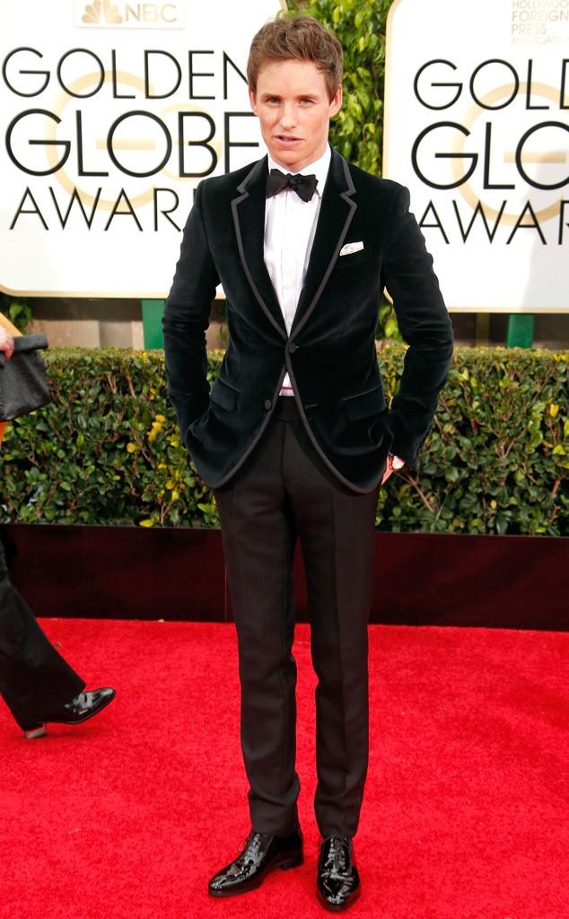 Eddie Redmayne Golden Globes Best Dressed DA MAN