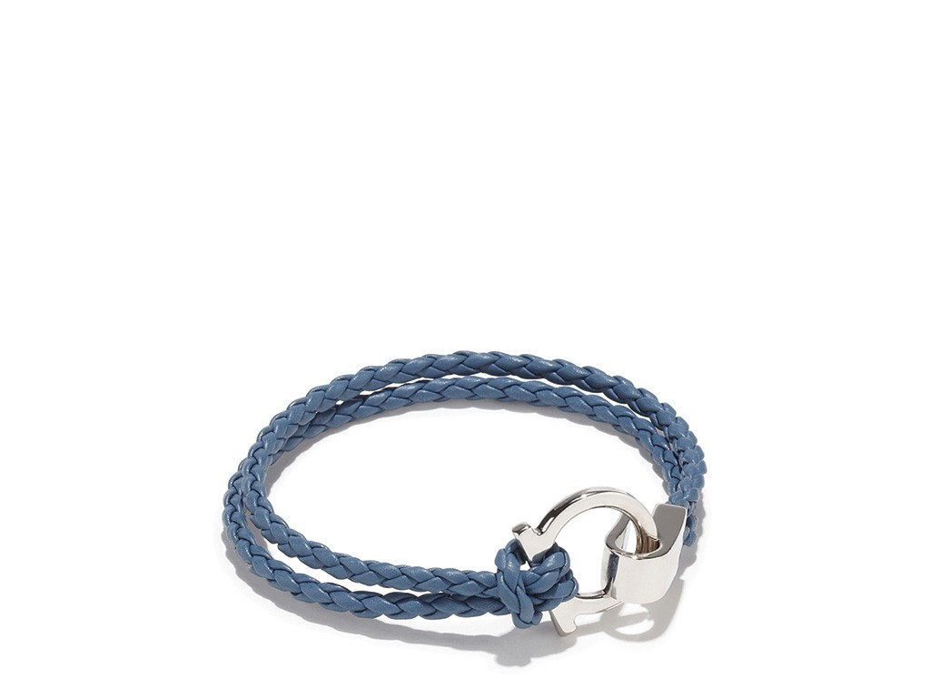 Essential Salvatore Ferragamo Braided Bracelet Da Man