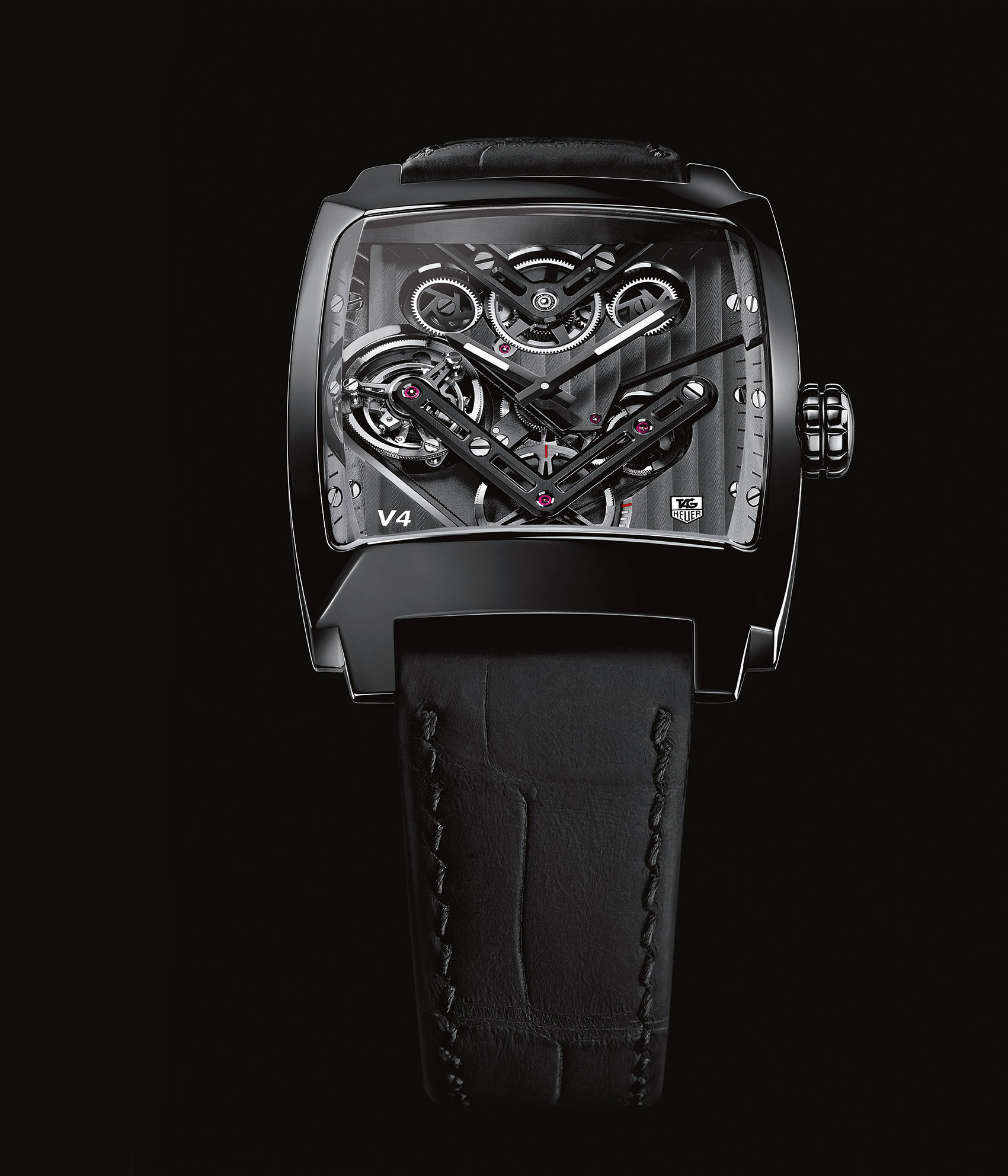 44b6b8d96ff Watch Lab: TAG Heuer Monaco V4 Tourbillon, the First Tourbillon Driven by  Belts | DA MAN Magazine
