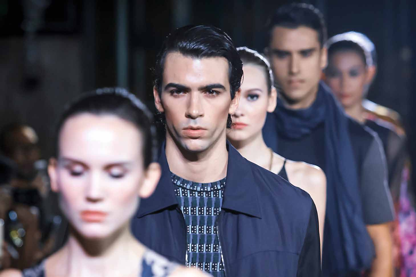 Lanvin Models on The Catwalk