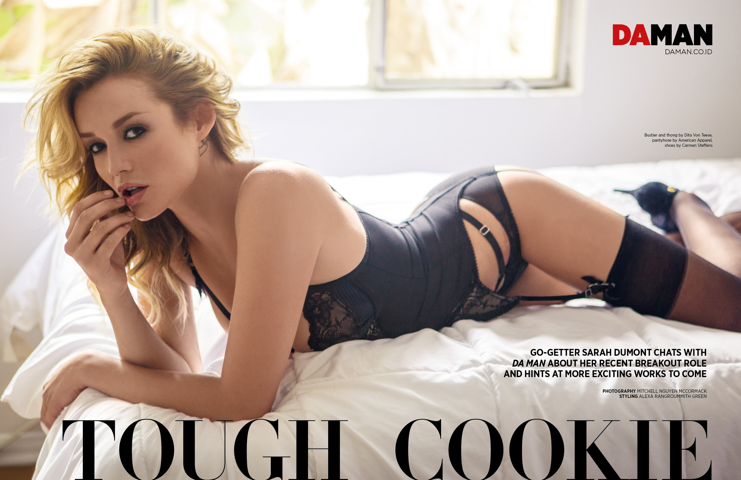 Exclusive Feature Sarah Dumont Da Man Magazine