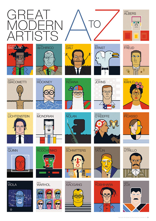 andy-tuohy-a-z-of-great-modern-artists-print