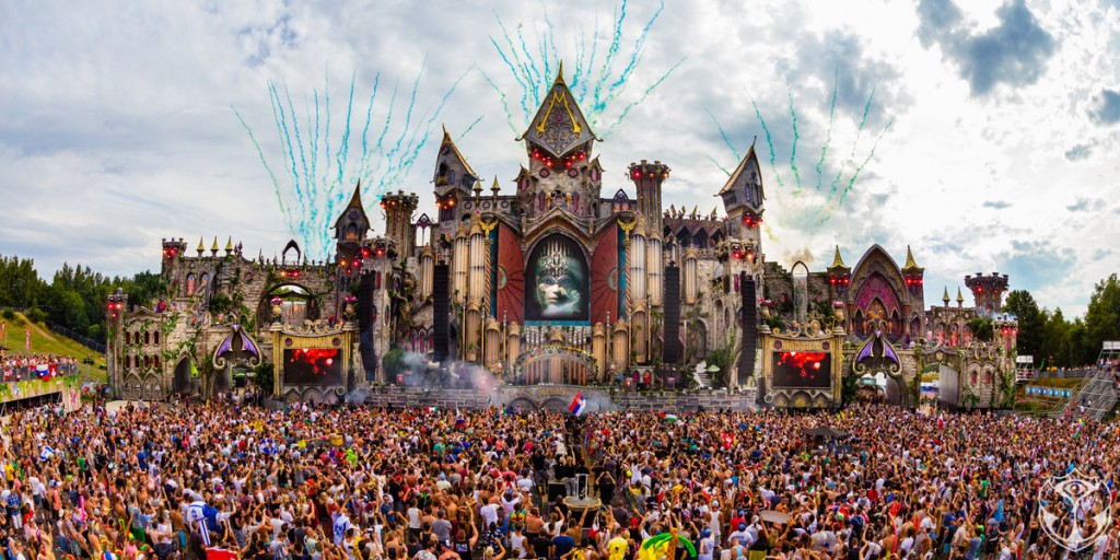 One of the Spectacular Stages at Tomorrowland 2015 in Belgium