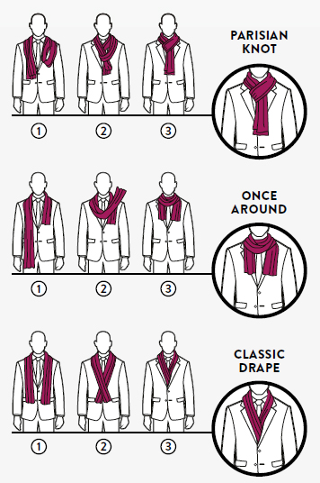 Fashion Faq How Do I Tie My Scarves Da Man Magazine