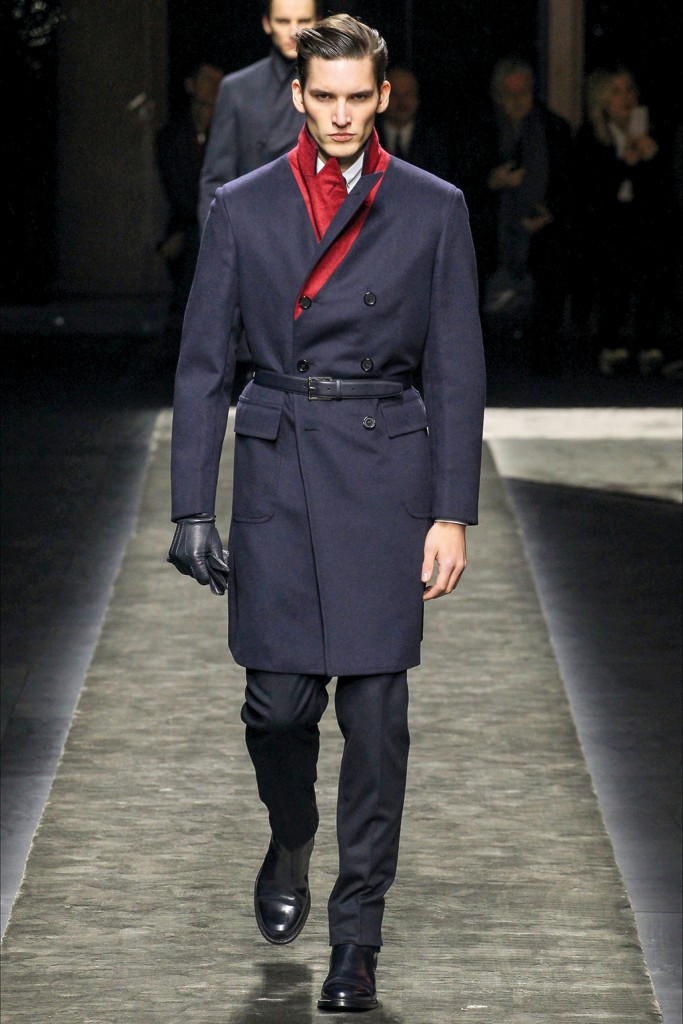 Fall/Winter 2015 Runway Trend: Brioni Belted Outerwear