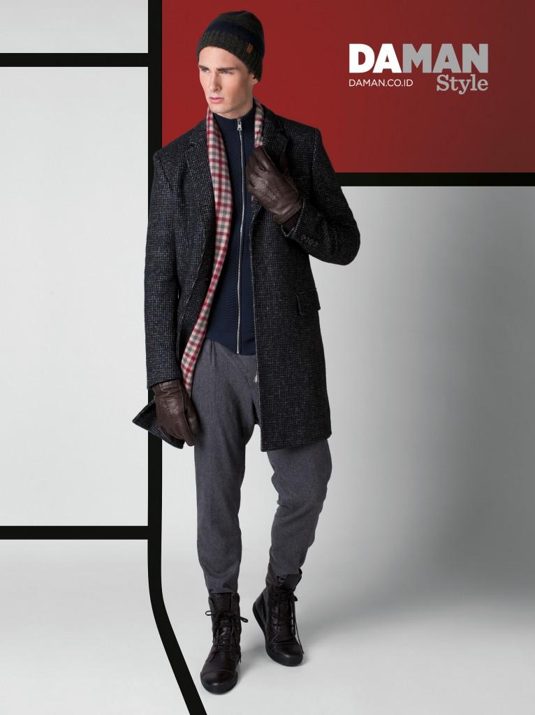 Model Quentin Marty in Ben Sherman, Armani Exchange, Hugo Boss & Tod's