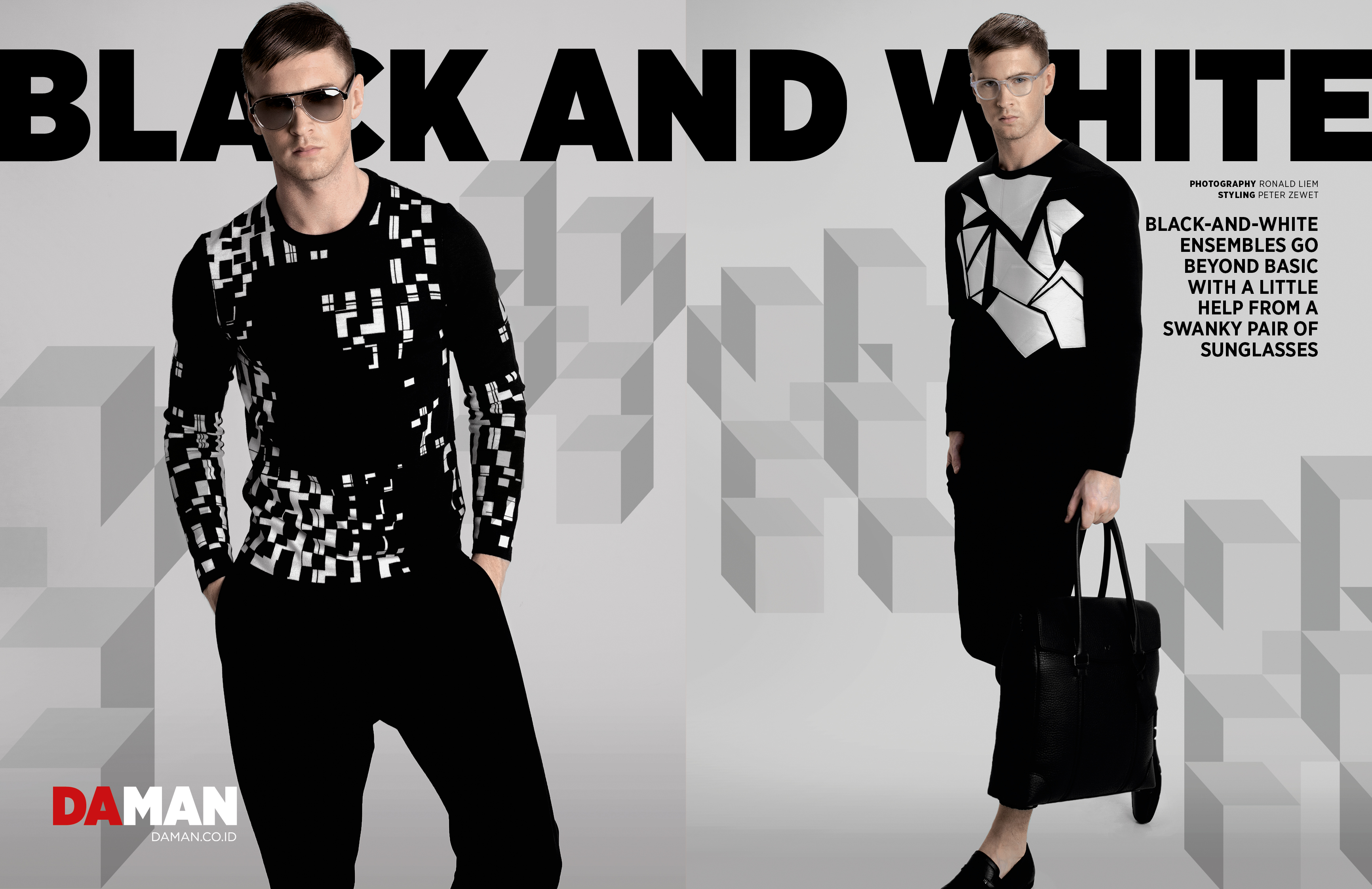 Fashion Spread: Black and White