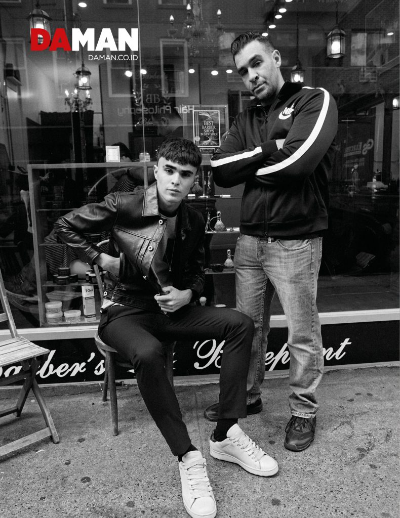 A Cut Above DA MAN fashion spread by Peter Ash Lee with Diego Villareal in Coach