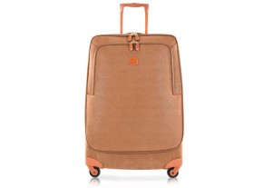 Feature Image - bric suede trolley luggage