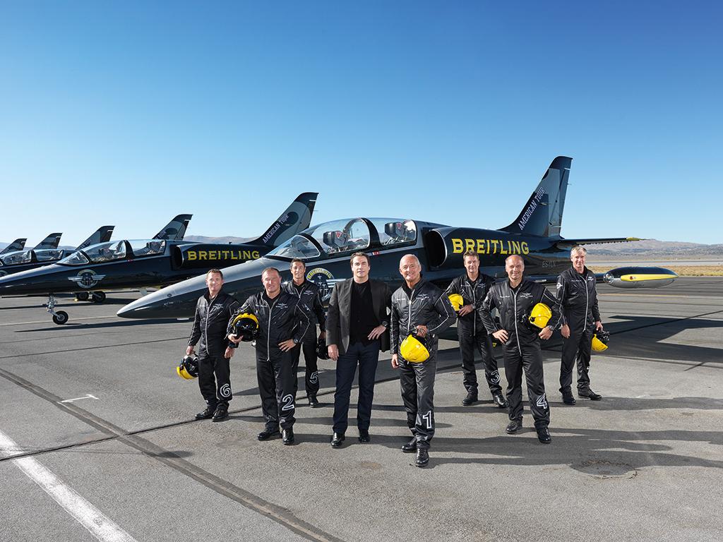 Special report da man met breitling jet team john travolta at 2015 reno air races da man for John travolta breitling