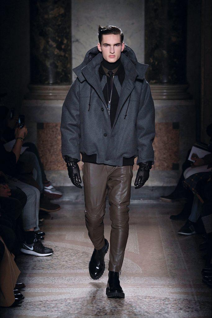 Les Hommes Leather Pants