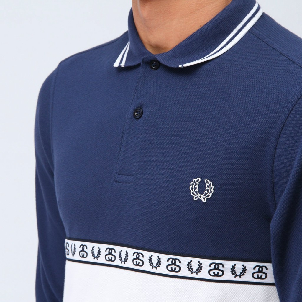 fred-perry-x-stussy-long-sleeve-polo-shirt-french-navy4