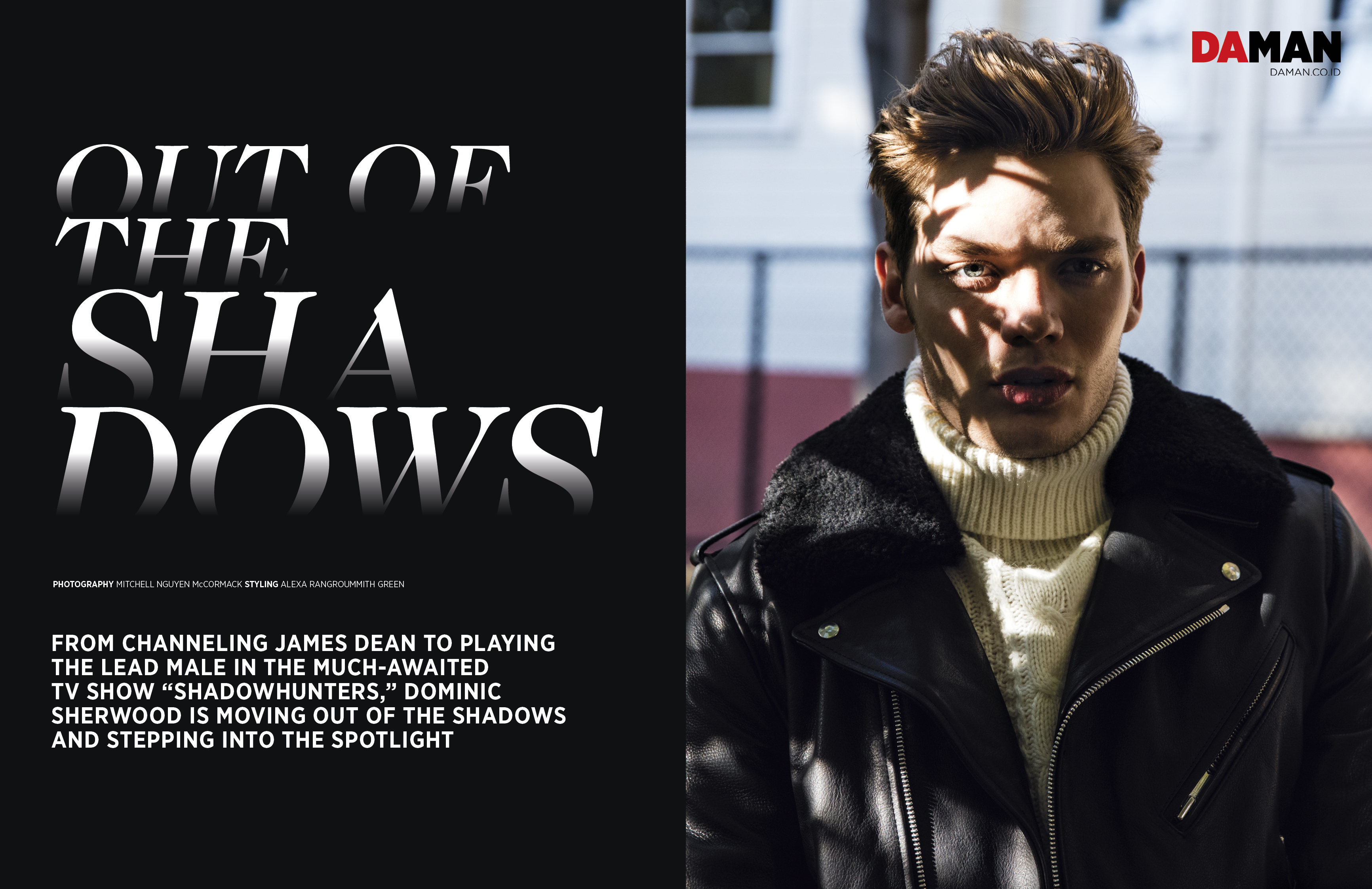 FEATURE_Dominic Sherwood of Shadowhunters in Sandro and Reiss
