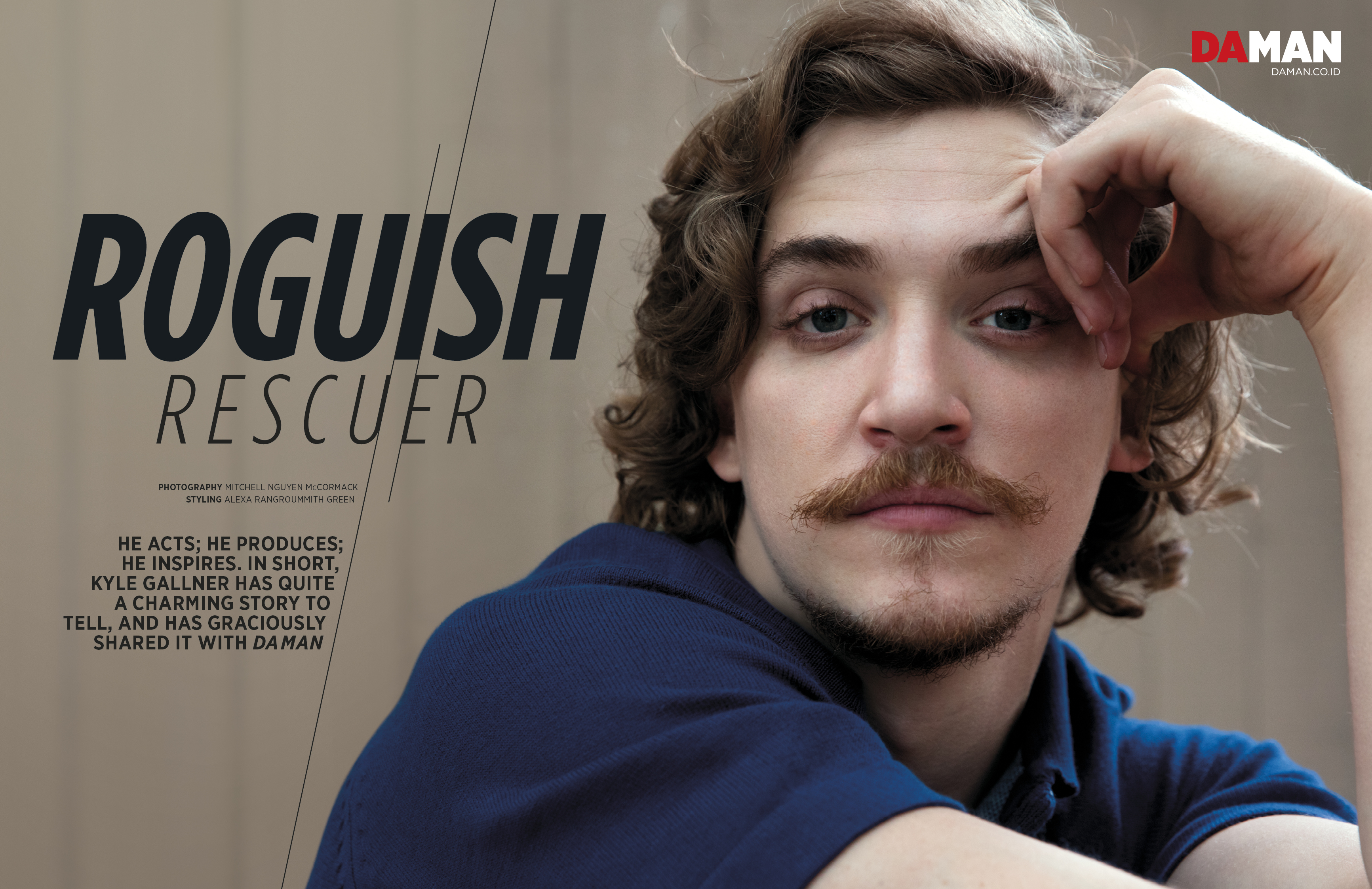 FEATURE_Kyle Gallner of The Finest Hours and Outsiders WGN in Polo shirt by Kennington