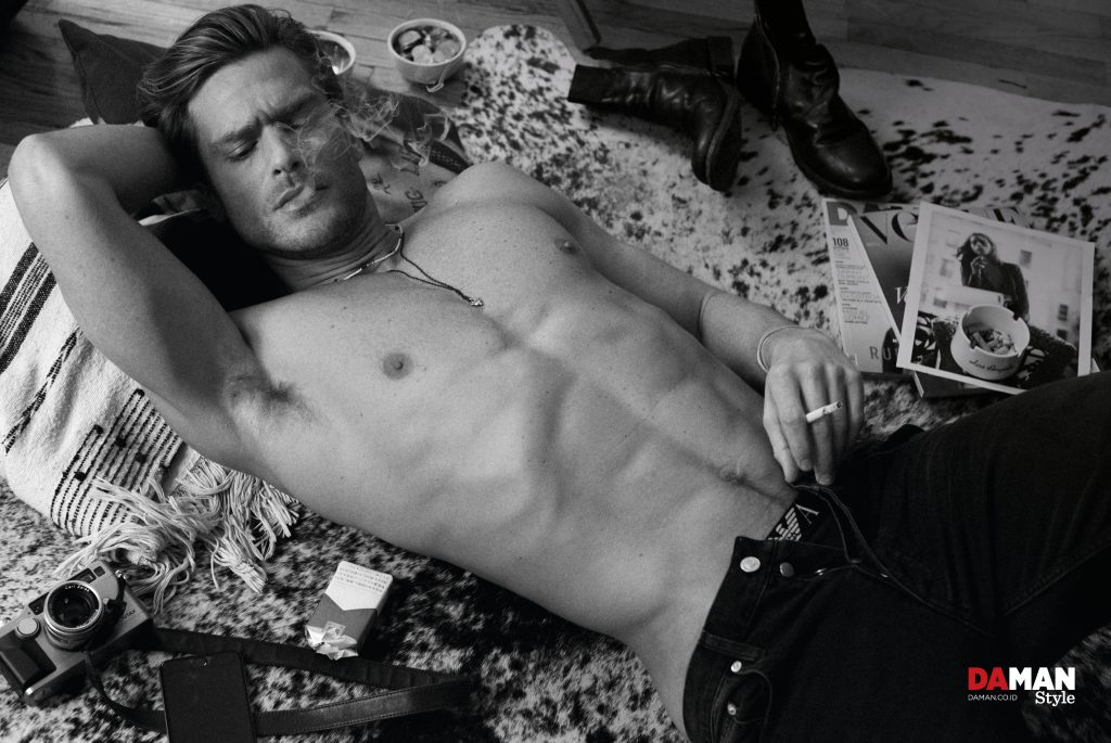 JASON MORGAN in Trousers by Sandro, briefs by Emporio Armani, cuff by Laura Lobdell, shoes by Fiorentini + Baker_3