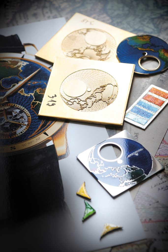 The enameled dial of Jaeger-LeCoultre Master Grand Tourbillon Continents Asia