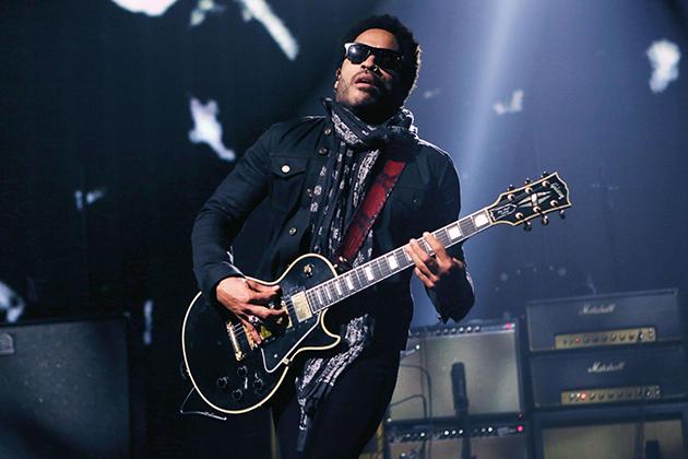 Lenny Kravitz's signature on-stage look