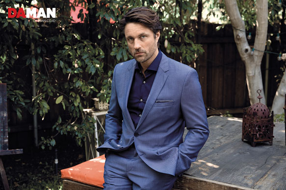 Martin Henderson Grey s Anatomy in Suit by Hugo Boss shirt by John Varvatos pocket square by O Harrow Clothiers copy-small