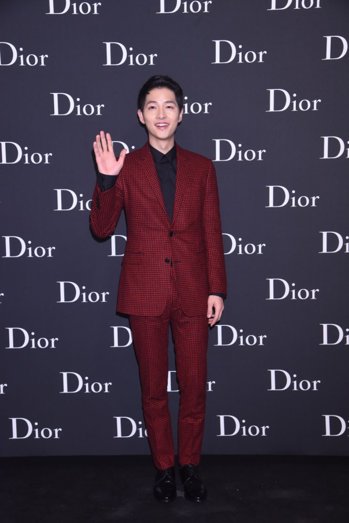 Song Joong Ki of Descendants of the Sun at Dior Homme Hong Kong