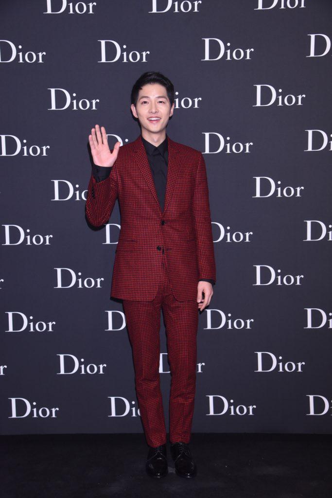 Song Joong Ki of Descendants of the Sun at Dior Homme Hong Kong