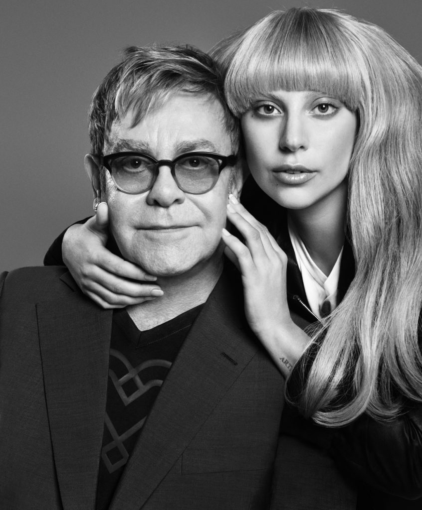 lady gaga and sir elton john for love bravery at macy's