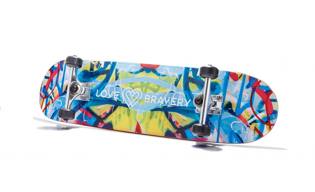 lady gaga and sir elton john for love bravery at macy's-skateboard